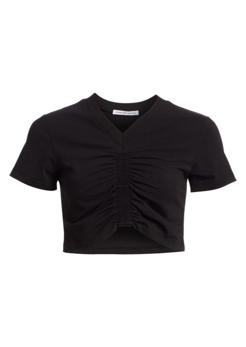T by Alexander Wang Ruched Cropped Tee