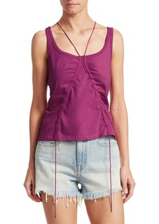 T by Alexander Wang Ruched Tie Tank Top