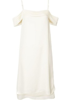 T by Alexander Wang ruffled drop shoulder dress