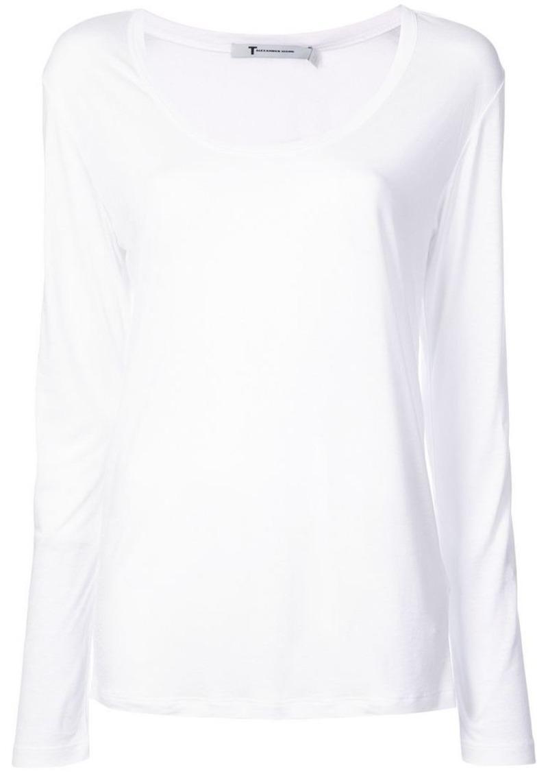 T by Alexander Wang scoop neck T-shirt