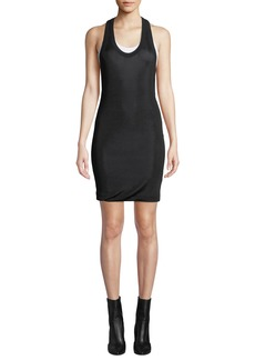 T by Alexander Wang Scoop-Neck Viscose Short Tee Dress