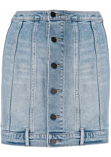 T by Alexander Wang seamed fitted denim skirt