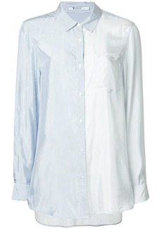 T by Alexander Wang shiny striped shirt