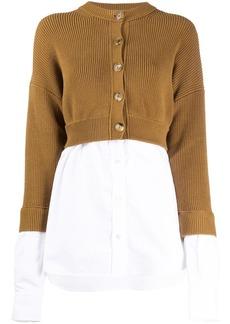 T by Alexander Wang shirt layer cardigan