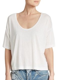 T by Alexander Wang Short-Sleeve Scoopneck Tee
