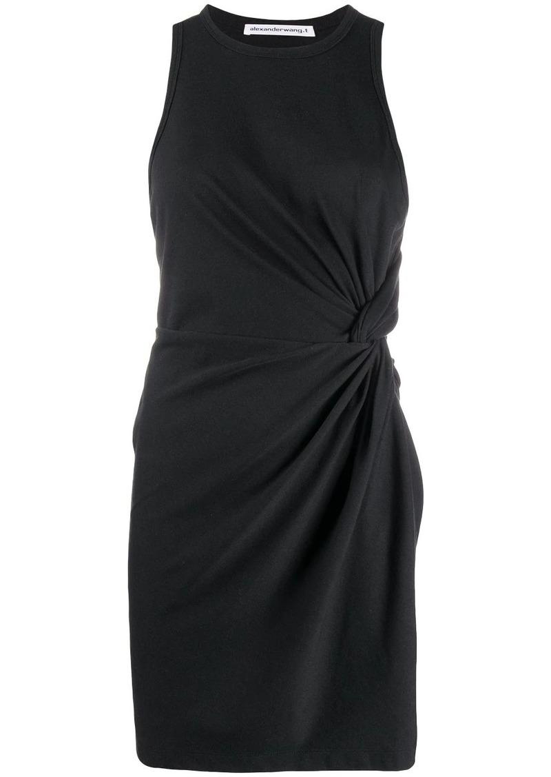 T by Alexander Wang side knot mini dress