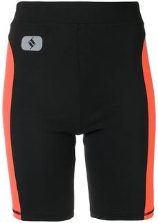 T by Alexander Wang side stripe cycling shorts