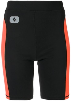 T by Alexander Wang side stripe cycling shorts