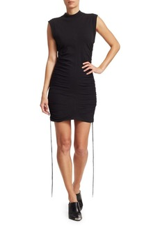 T by Alexander Wang Side-Tie T-Shirt Dress
