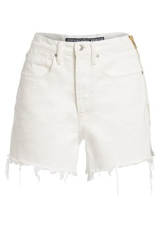 T by Alexander Wang Side Zipper Denim Shorts