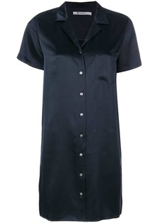 T by Alexander Wang silk shirt dress