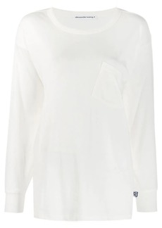 T by Alexander Wang slanted pocket longsleeved T-shirt