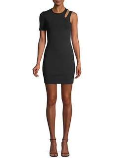 T by Alexander Wang Sleek Rib Asymmetric Dress
