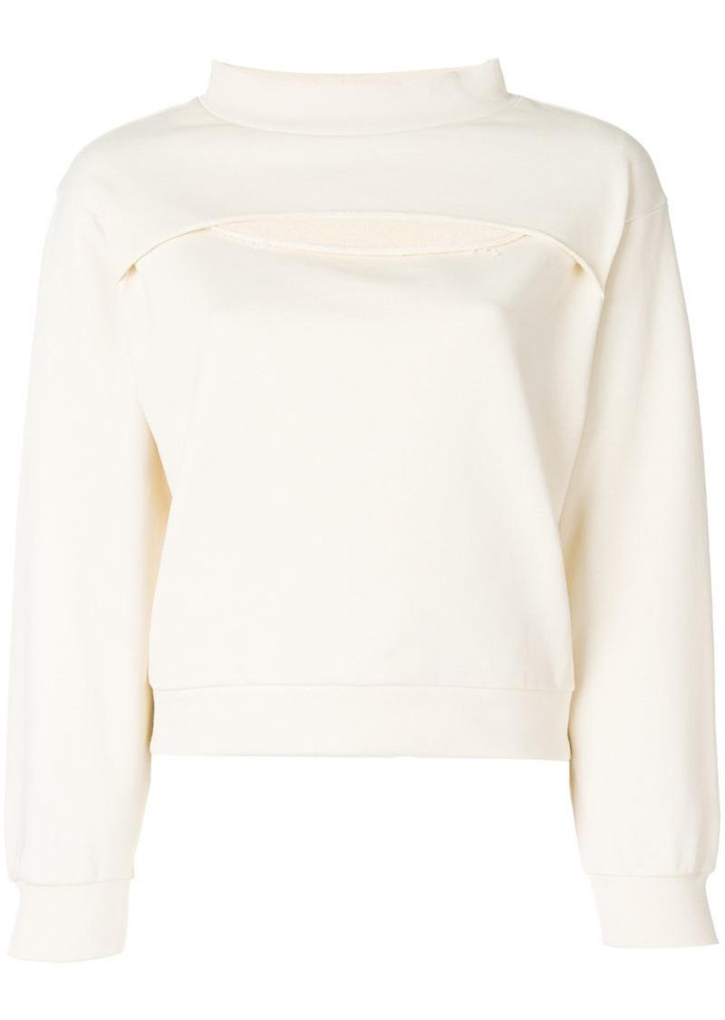 T by Alexander Wang Slit-Front sweatshirt