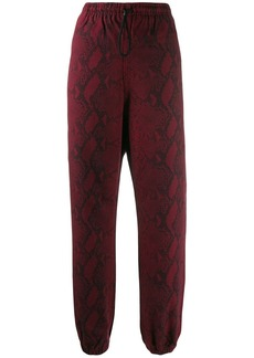 T by Alexander Wang snake print trousers