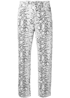 T by Alexander Wang snakeskin print trousers