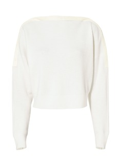 T by Alexander Wang Snap Detail Cropped Sweater