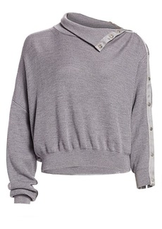 T by Alexander Wang Snap Turtleneck Sweater