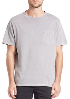 T by Alexander Wang Solid Cotton Short Sleeve Tee
