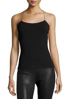 T by Alexander Wang Strappy Cross-Back Cutout Camisole