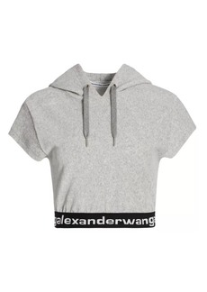 T by Alexander Wang Stretch Corduroy Hooded T-Shirt