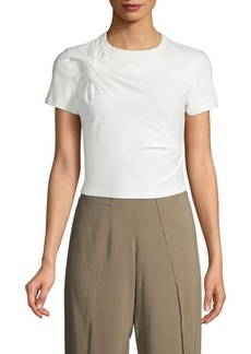 T by Alexander Wang Stretch Jersey Twist Cropped Tee
