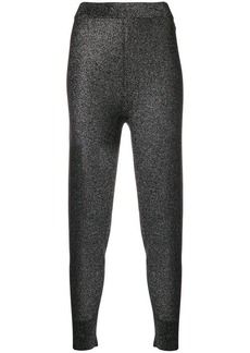 T by Alexander Wang stretch ribbed cuff leggings
