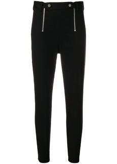 T by Alexander Wang stretch zipper trim slim trousers