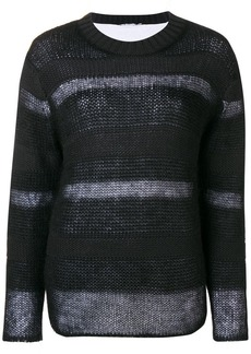 T by Alexander Wang stripe panel sweater