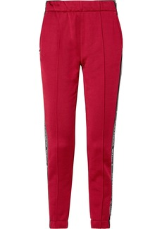 T by Alexander Wang Striped Cotton-blend Satin Track Pants