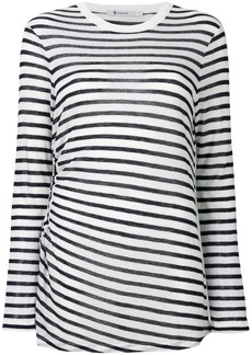 T by Alexander Wang striped cut out top