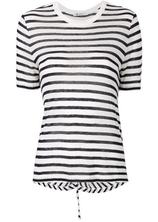 T by Alexander Wang striped cutout T-shirt