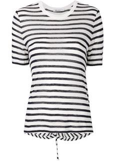 T by Alexander Wang striped cutout T-shirt