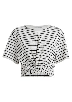 T by Alexander Wang Striped Jersey Twist T-Shirt