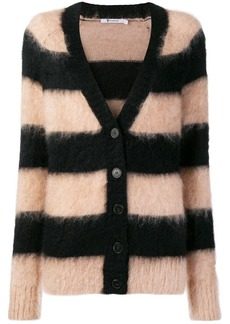 T by Alexander Wang striped knitted cardigan