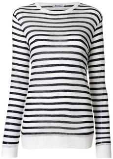 T by Alexander Wang striped knitted top