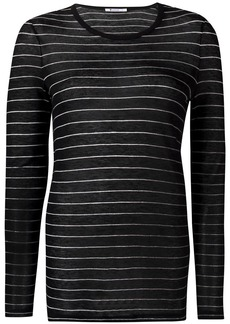 T by Alexander Wang striped long sleeve top