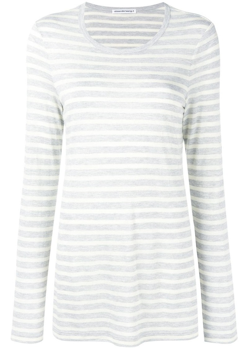 T by Alexander Wang striped long sleeved T-shirt