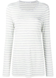 T by Alexander Wang striped long sleeved T-shirt