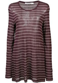 T by Alexander Wang striped longline jersey top