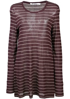 T by Alexander Wang striped longline jersey top