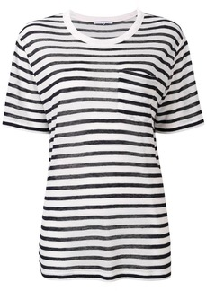 T by Alexander Wang striped longline T-shirt