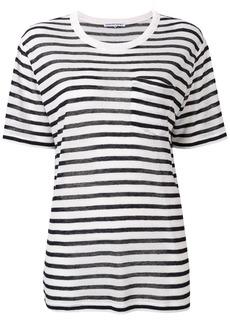 T by Alexander Wang striped longline T-shirt