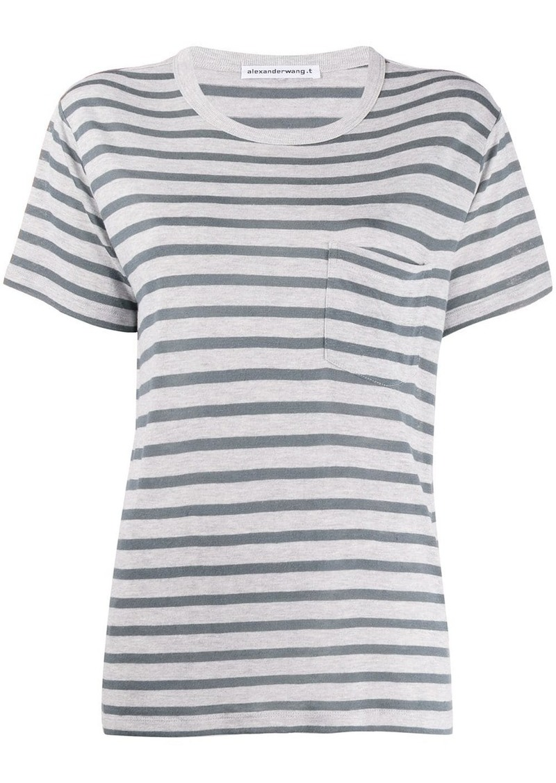 T by Alexander Wang striped pattern T-shirt