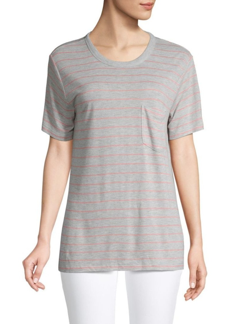 T by Alexander Wang Striped Pocket Tee