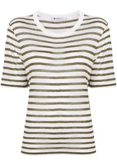 T by Alexander Wang striped short sleeve T-shirt