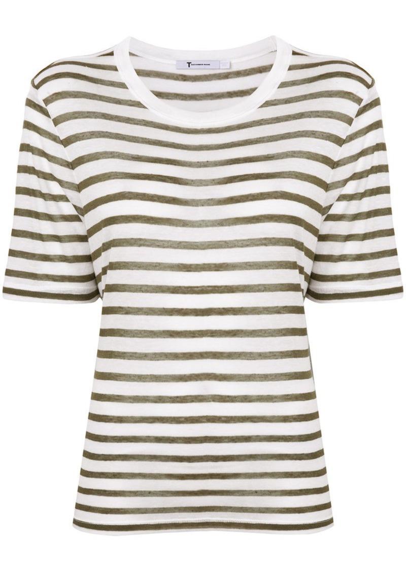 T by Alexander Wang striped short sleeve T-shirt