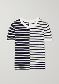 T by Alexander Wang Striped Slub Jersey T-shirt