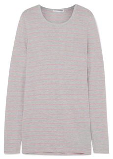 T by Alexander Wang Striped Slub Jersey Top
