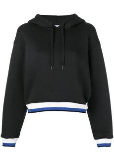 T by Alexander Wang striped trim hoodie
